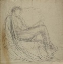 Study of a draped reclining woman, The Hunterian