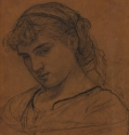 Albert Moore, sketch after Portrait of a girl, probably Milly Jones, Sotheby's 2016
