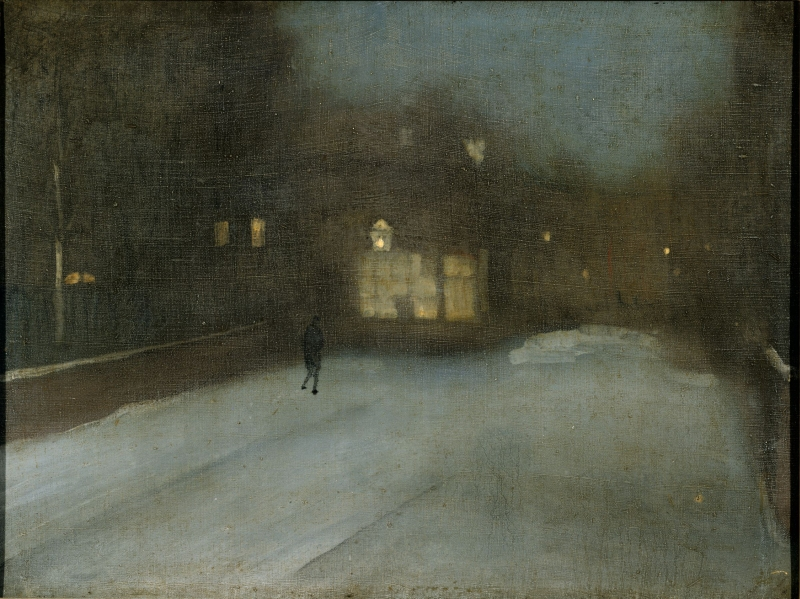 Nocturne: Grey and Gold - Chelsea Snow